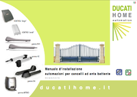 NOTICES d'installation motorisation DUCATI HOME AUTOMATION